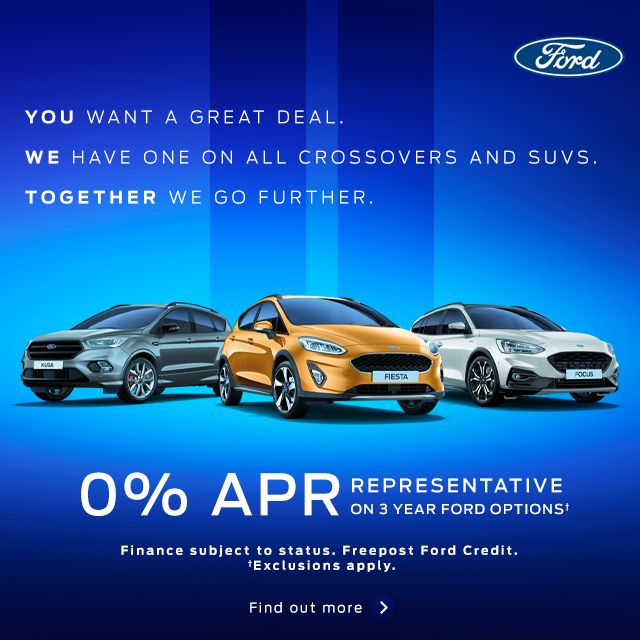 0% APR Representative on 3 Year Ford Options