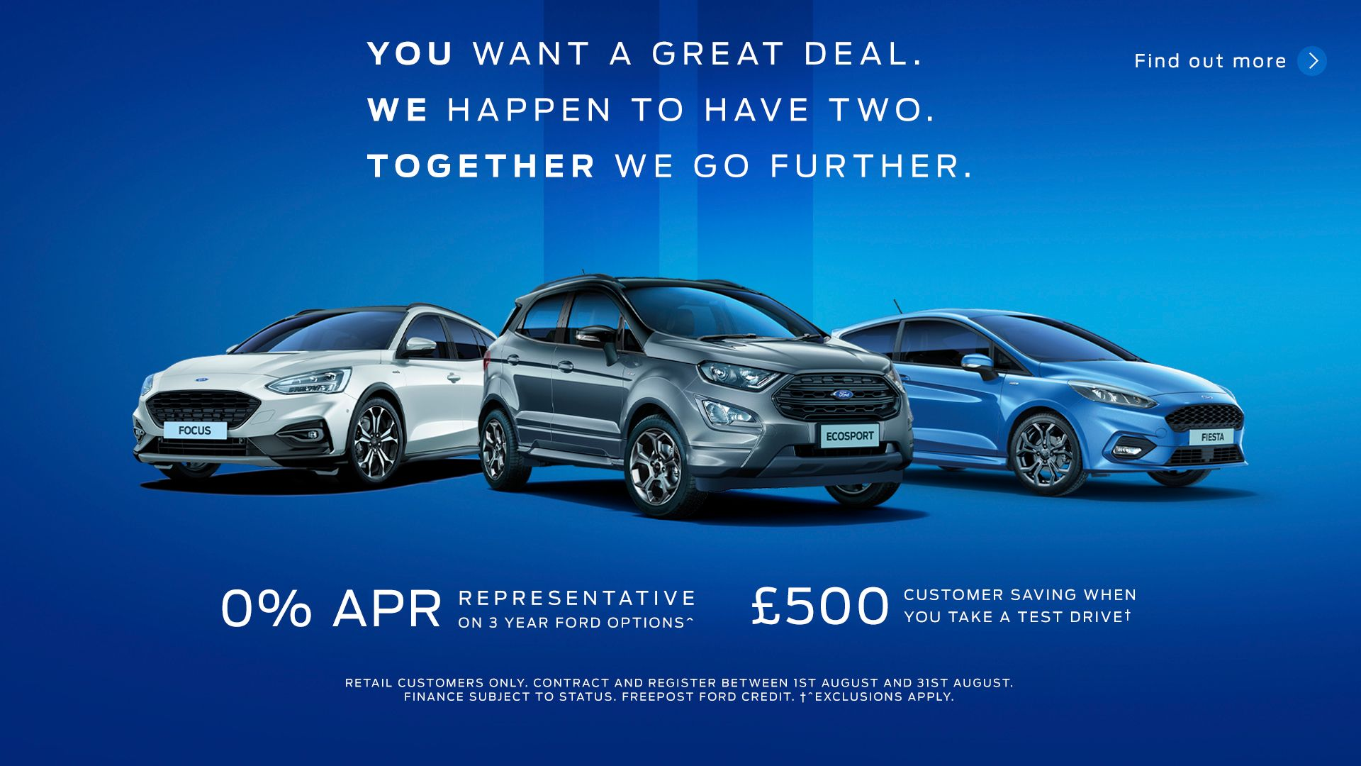 £500 Customer Saving when you take a Test Drive this August!